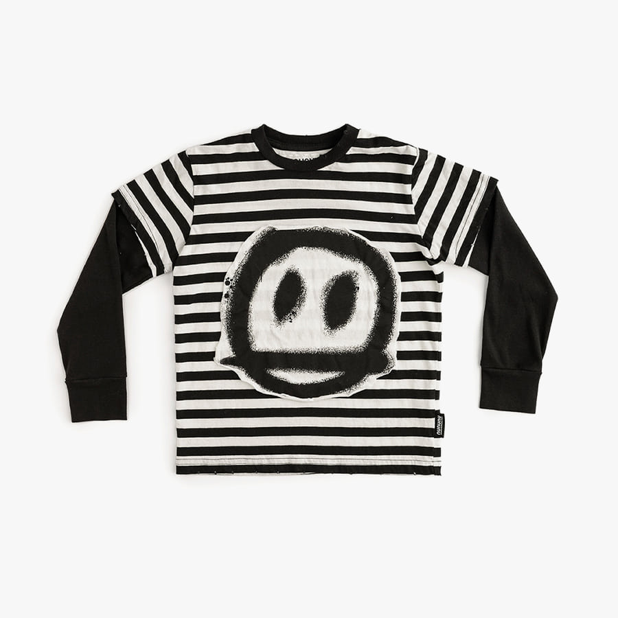 Sprayed smile striped t-shirt (kids)