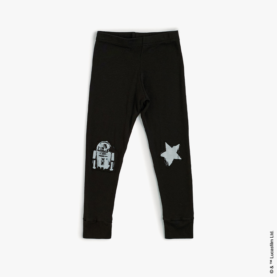 Star r2d2 patch leggings (baby)