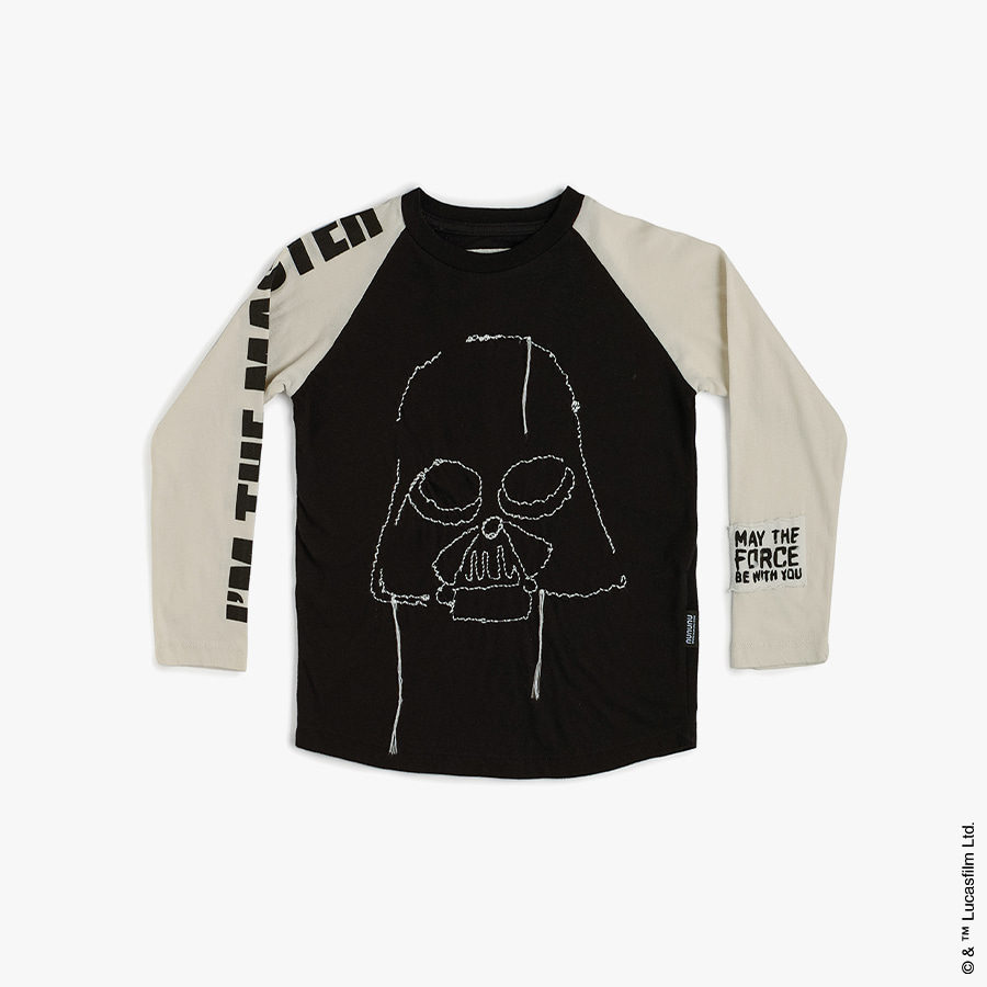 Embroidered darth vader shirt (kids)